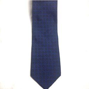 Versace Blue Grecian Silk Tie EUC
